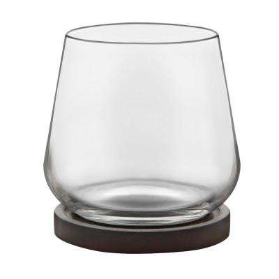 Urban Story 4-Piece Clear Rocks Glass Set with Lids