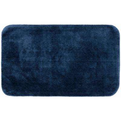Traditional Navy 30 in. x 50 in. Plush Nylon Bath Mat