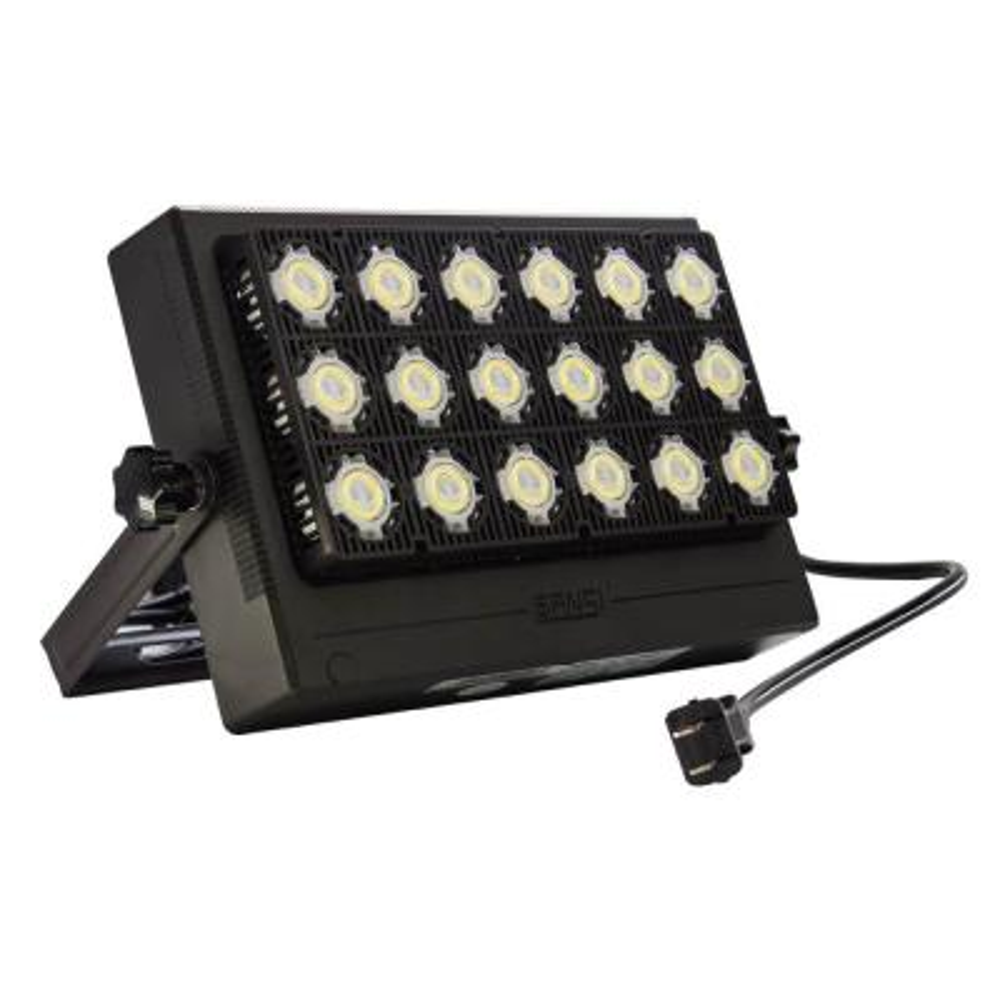 100-Watt Black 10,000 Lumens Outdoor Integrated LED IP66 Waterproof 5700K Daylight Panel Flood Light