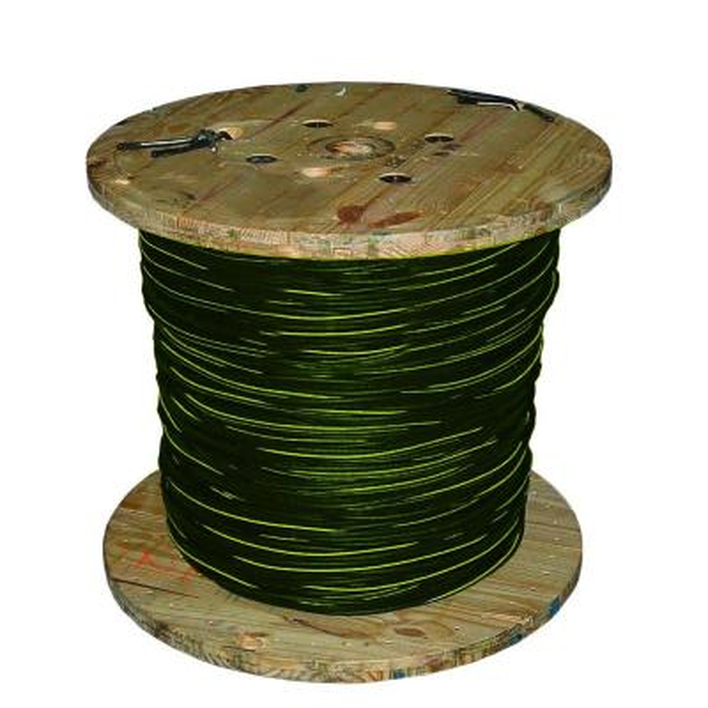 500 ft. 1/0-1/0-1/0 Black Stranded AL Bergen URD Cable
