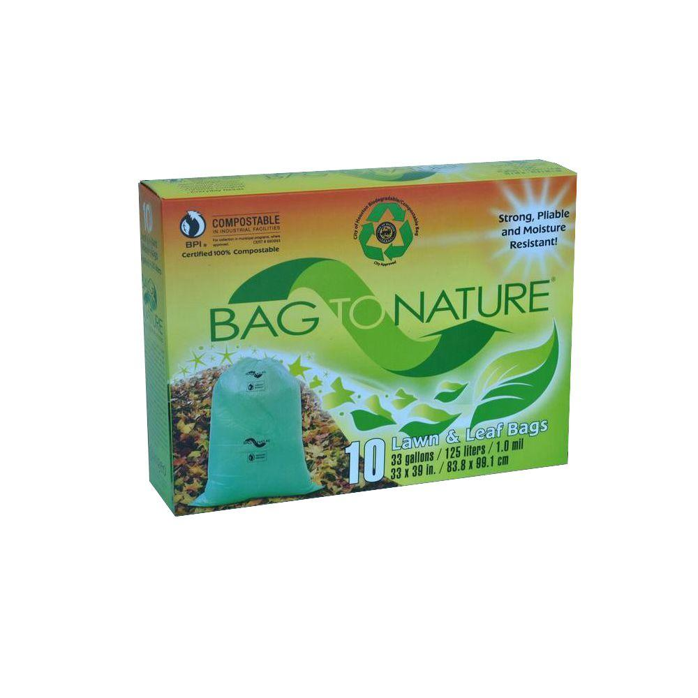 33 Gal. Compostable Leaf and Yard Bag (10-Count) (1 Pallet of