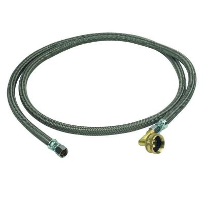 3/8 in. Compression x 3/8 in. Compression x 72 in. Braided Polymer Dishwasher Connector with 3/4 in. Garden Hose Elbow
