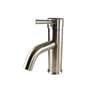 Sillaro Single Hole 1-Handle Low-Arc Bathroom Faucet in Brushed Nickel