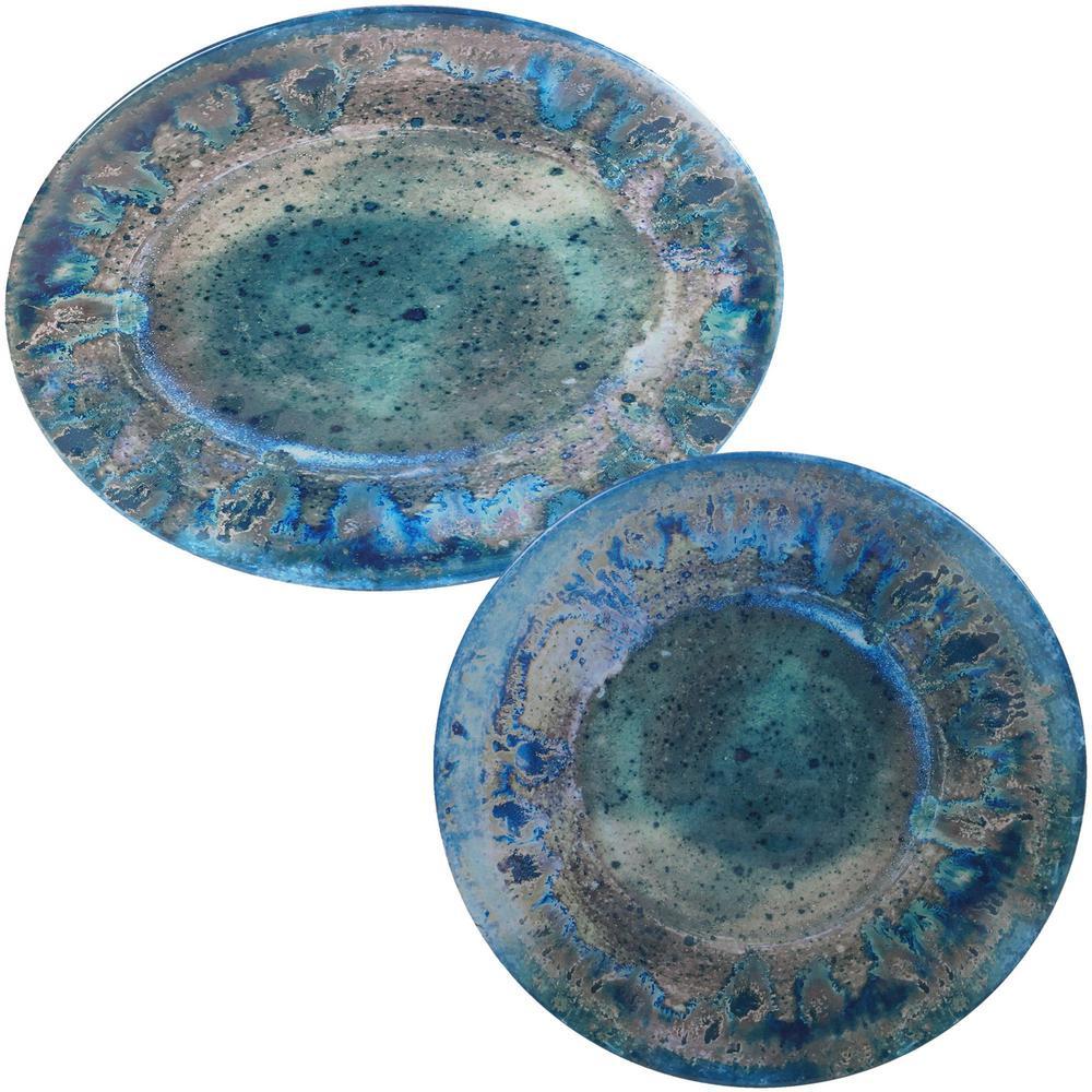 Radiance 2-Piece Melanine Platter Set