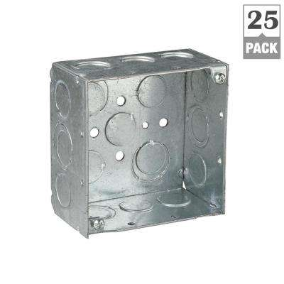 2-Gang 4 in. 30.3 cu. in. New Work Metallic Square Electrical Box (Case of 25)