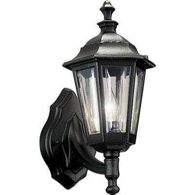 Black 1-Light Outdoor Wall Lantern