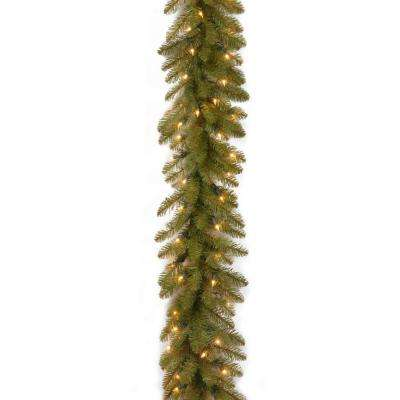 9 ft. Pre-Lit Dunhill Fir Garland with Clear Lights