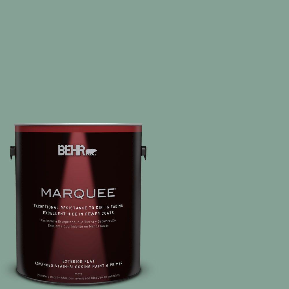 BEHR MARQUEE 1-gal. #S420-4 Australian Jade Flat Exterior Paint