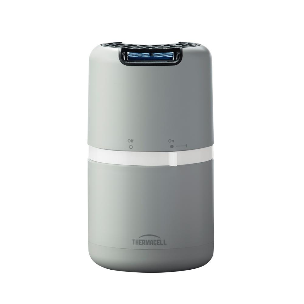 Thermacell Halo Mosquito Repeller Patio Shield in Gray The Thermacell Halo Mosquito Repeller effectively repels mosquitoes by creating a 15 ft. zone of protection. Our most advanced Repeller is contemporary in design and features a new long lasting 48-hours fuel system (which can run on any number of 1 to 4 butane cartridges), as well as a Zone Check system that provides a visual indication when a Mosquito Protection Zone is created. Ideal for use while gardening, camping, fishing, around the backyard and more. Thermacell mosquito repellent products are powered by a Thermacell butane cartridge which directs heat to a small mat infused with the repellent Allethrin, a synthetic version of a naturally occurring repellent found in chrysanthemum flowers. Heat disperses the repellent creating the 15 ft. zone of protection. Thermacell protects millions of people from mosquitoes with no messy sprays or lotions, no odors, no noise, no DEET and no open flames. For best results, use on days with light or no wind (bugs are at their worst on these days) and allow 10-minutes to 15-minutes to form a complete zone of protection around the unit. Thermacell products are safe, effective and come with a 100% Satisfaction Guarantee. With Thermacell, Turn it on MOSQUITOES GONE.