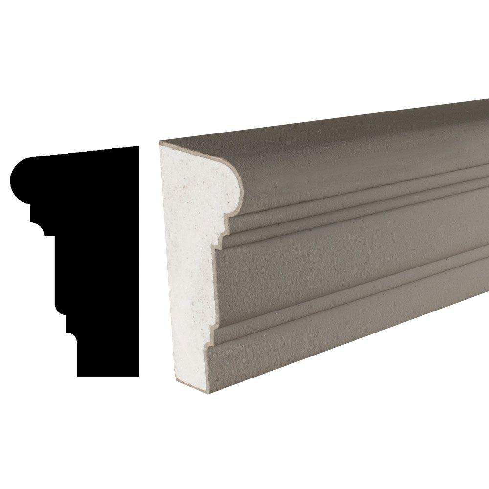 American Pro Decor Cemetrim Collection 4-1/4 in. x 8-3/4 in. x 4 in. EPS Exterior Cement Coated Stucco Banding Moulding Sample