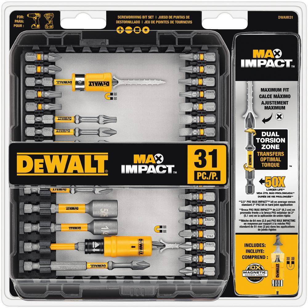 DEWALT MAX Impact Screwdriving Set (31-Piece) was $28.81 now $18.97 (34.0% off)