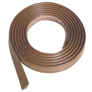 3/4 in. x 10 ft. Light Brown PVC Inside Corner Self-Adhesive Flexible Trim Molding