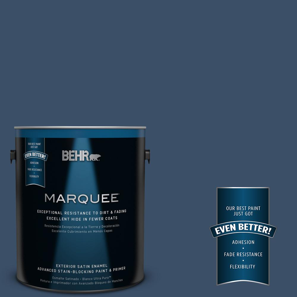 BEHR MARQUEE 1-gal. #M510-7 Inked Satin Enamel Exterior Paint