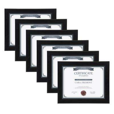 Kieva 8.5 in. x 11 in. Black Picture Frame (Set of 6)