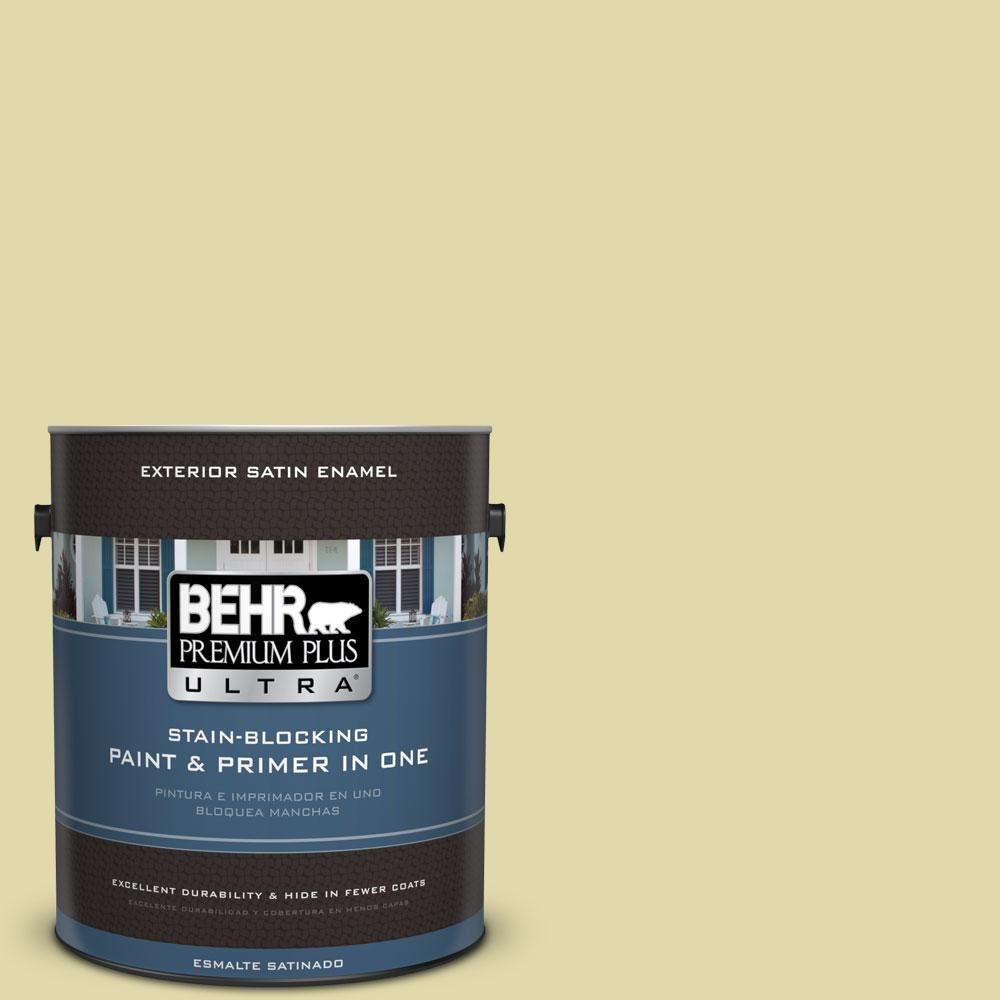 1 gal. #HDC-CT-27A Fresh Willow Exterior Satin Enamel Paint