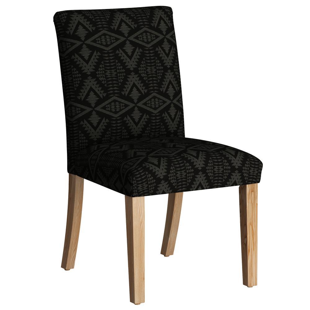 Diamond River Tonal Charcoal Dining Chair