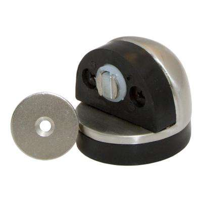 Satin Nickel Half Dome Floor Mount Magnetic Door Stop