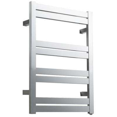 Tahitian Series 8-Bar Stainless Steel Wall Mounted Electric Towel Warmer in Polished Chrome