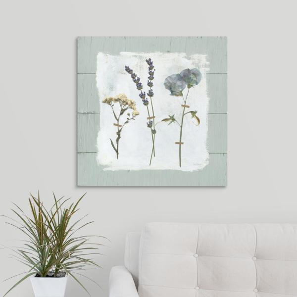 Pressed Flowers on Poster Print by Carol Robinson 24 x 24