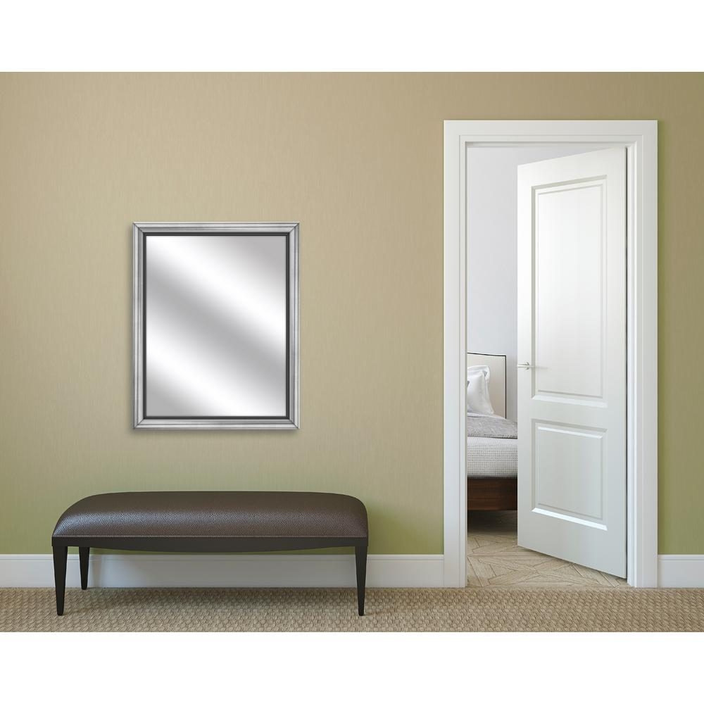 PTM Images 32.75 in. x 26.75 in. Stainless Silver Framed Mirror-5 ...