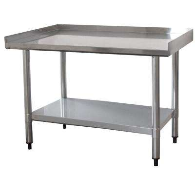 3 ft. x 2 ft. Stainless Steel Worktable with Upturned Edge