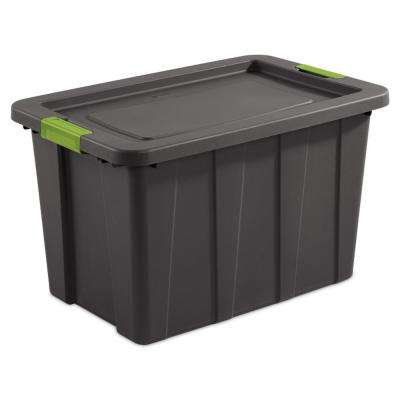 Latching 30 Gal. Plastic Storage Bin Container and Lid (4-Pack)