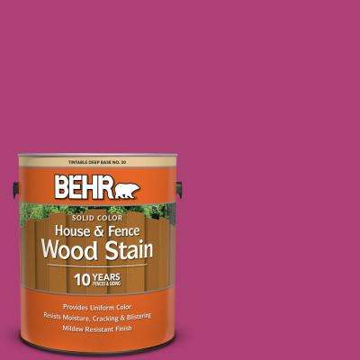 1 gal. #100B-7 Hot Pink Solid Color House and Fence Exterior Wood Stain