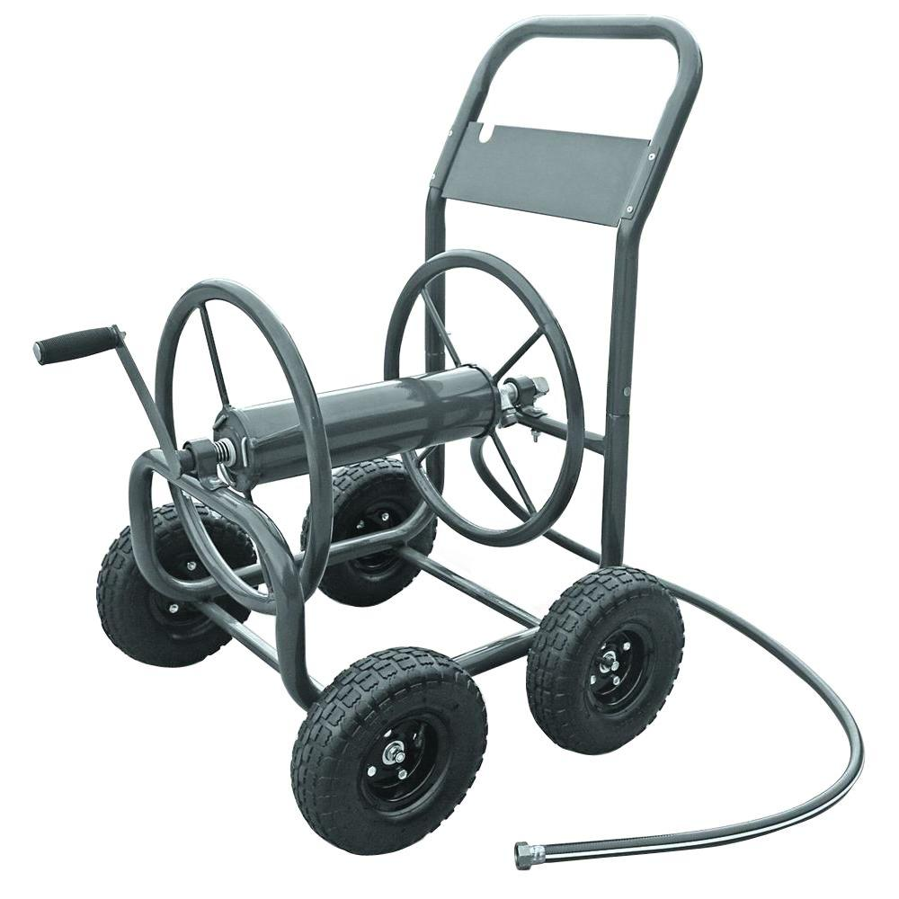 hampton bay 4 wheel hose cart - Garden Hose Reel Cart