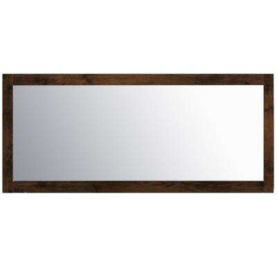 Sun 72 in. W x 31.61 in. H Framed Wall Mounted Vanity Bathroom Mirror in Rosewood
