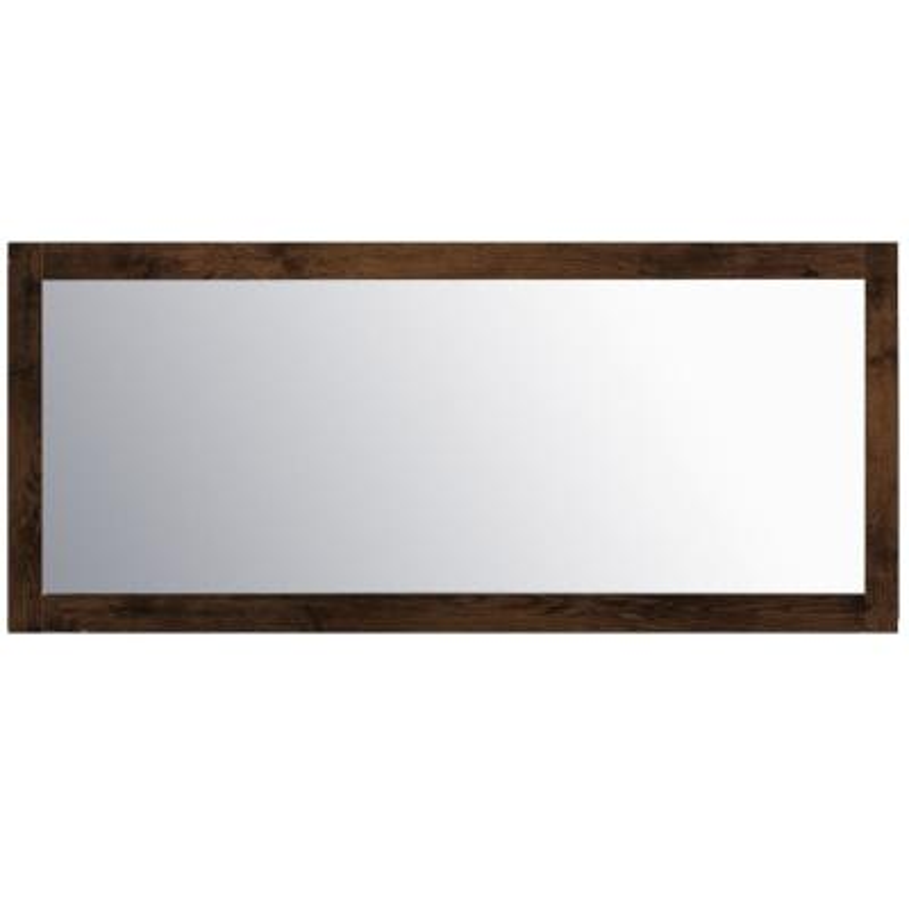 Sun 72 in. W x 30 in. H Framed Rectangular Bathroom Vanity Mirror in Rosewood