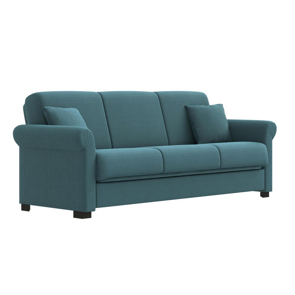 Erika Caribbean Blue Linen Convert-a-Couch