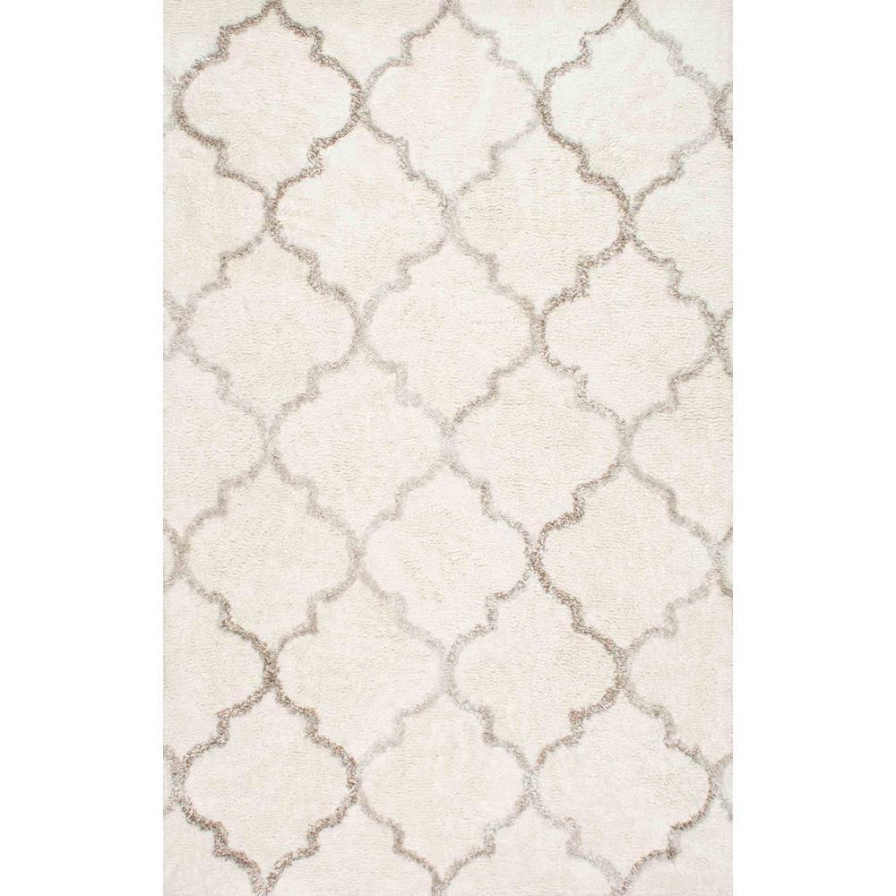 Moroccan Vanna Trellis Shag Cream 8 ft. x 10 ft. Area Rug