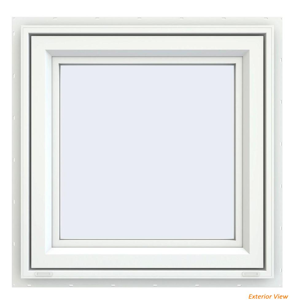 23.5 in. x 23.5 in. V-4500 Series White Vinyl Right-Handed Casement