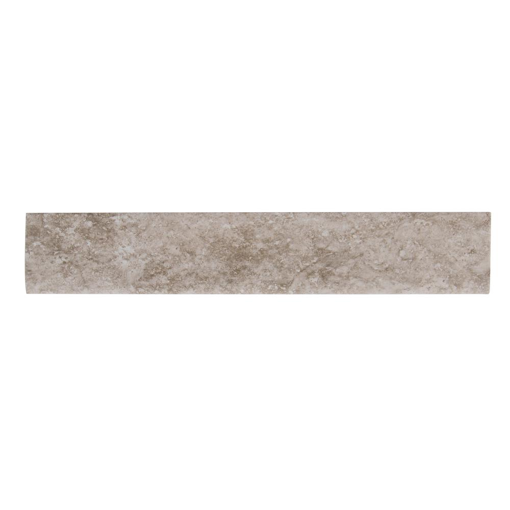 Aliso Gris 3 in. x 18 in. Glazed Ceramic Bullnose Wall