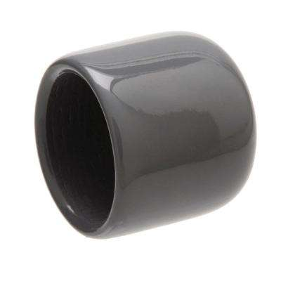1/2 in. Gray Rubber Protectors (2-Piece per Pack)