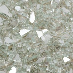 Margo Garden Products 1/4 inch 10 lb. Crystal Reflective Tempered Fire Glass by Margo Garden Products