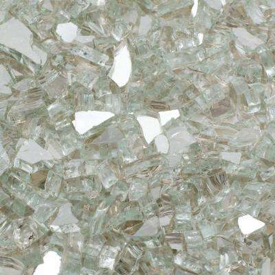 1/4 in. 10 lb. Crystal Reflective Tempered Fire Glass