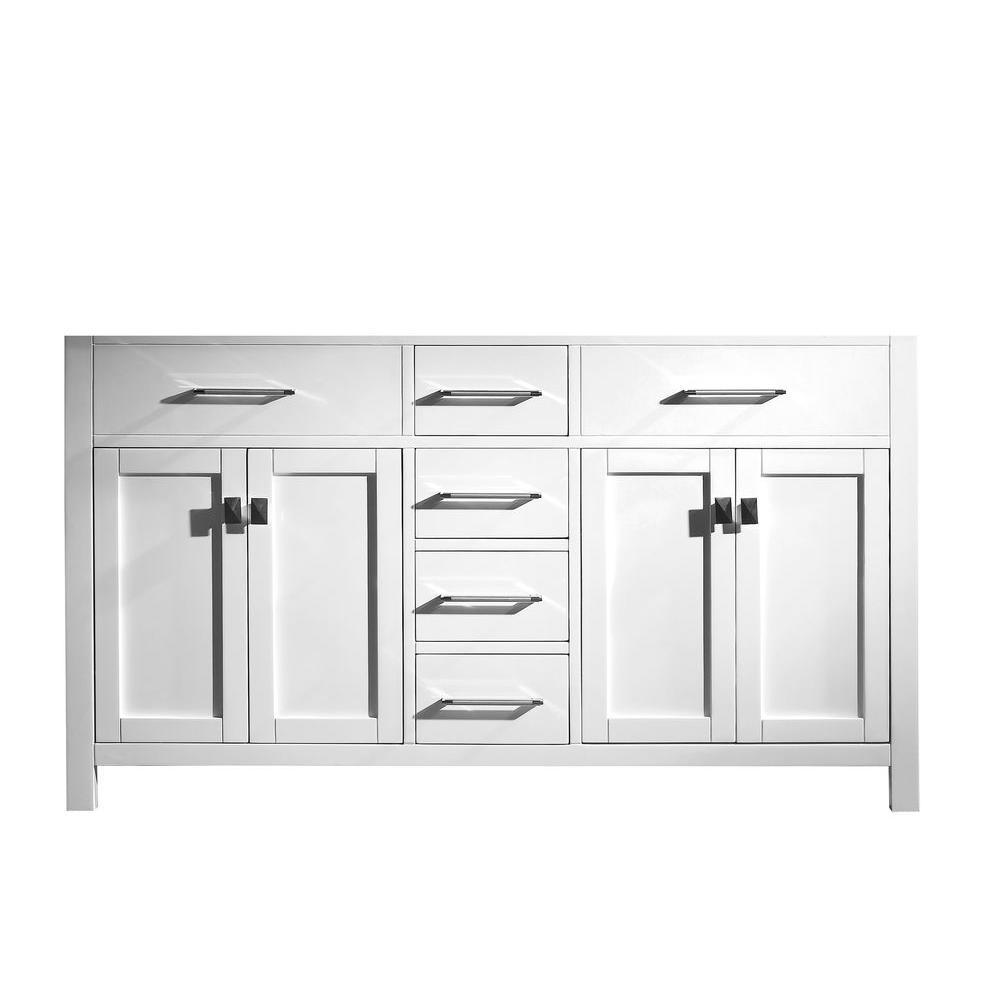 Caroline 59.21 in. W x 21.65 in. D x 33.46 in. H Vanity Cabinet in White