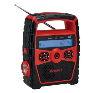 First Alert Portable AM/FM Weather Band Radio with Clock and S.A.M.E. Weather Alert by First Alert
