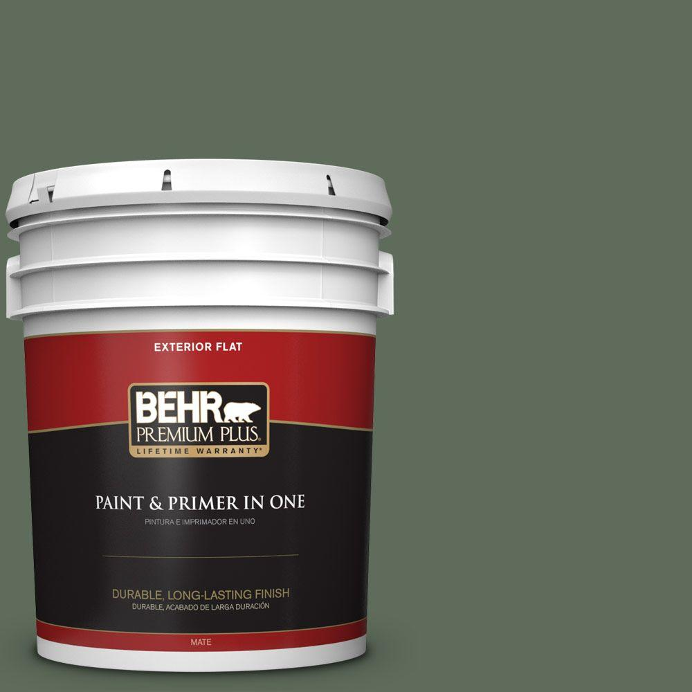 5-gal. #450F-6 Whispering Pine Flat Exterior Paint