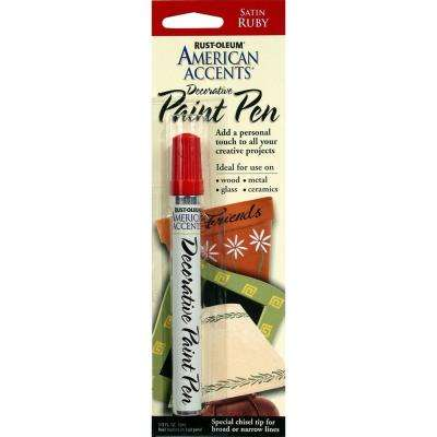 Satin Ruby Decorative Paint Pen (6-Pack)
