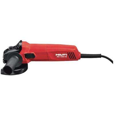 7 Amp 120-Volt Corded 4-1/2 in. Angle Grinder with Protective Cover