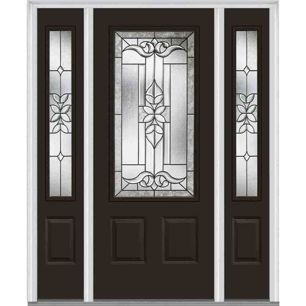 Mmi Door 64 In X 80 In Cadence Right Hand 34 Lite Decorative