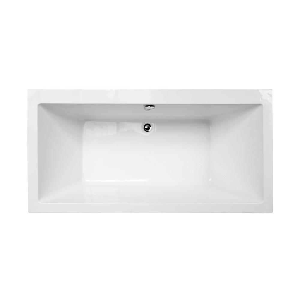 Matera 5.5 ft. Acrylic Slipper Flatbottom Non-Whirlpool Bathtub in White
