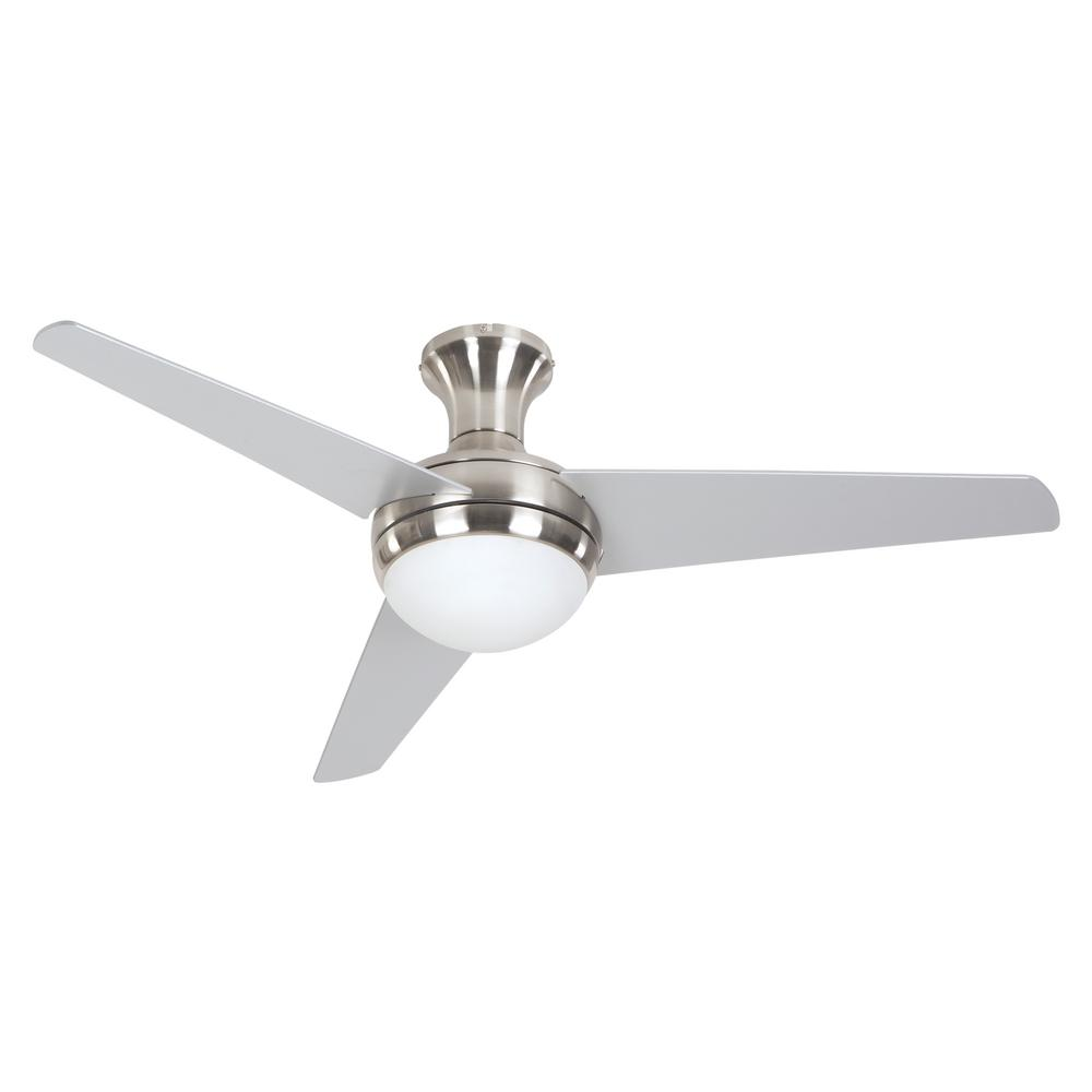 Yosemite Home Decor Adalyn 48 In Bright Brushed Nickel Ceiling Fan With 12 In Lead Wire Adalyn