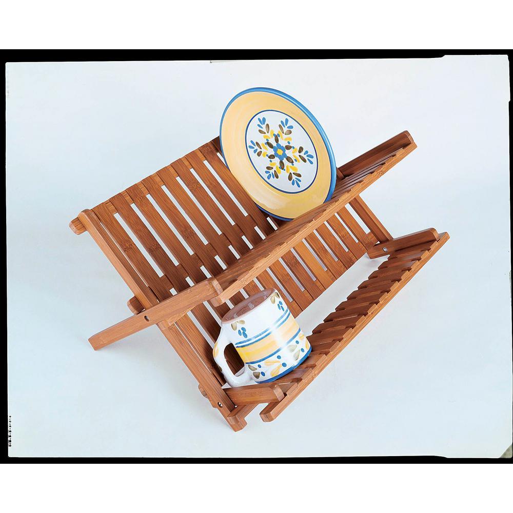 Bamboo Folding Dishrack