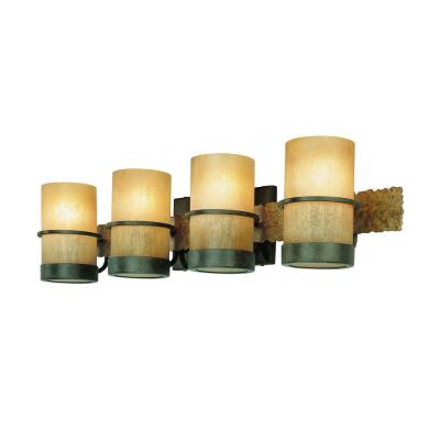 Bamboo 4-Light Bamboo Bronze Vanity Light