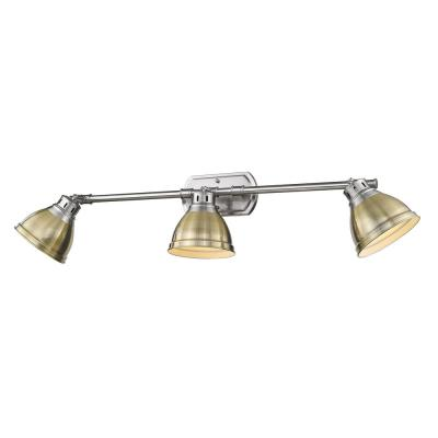Duncan 8.25 in. 3-Light Pewter Vanity Light