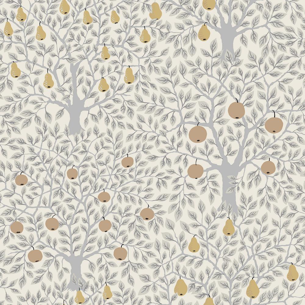 A-Street Pomona Light Grey Fruit Tree Wallpaper