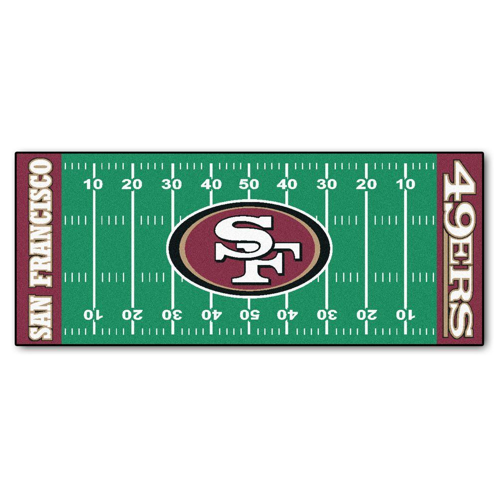 Fanmats San Francisco 49ers 2 Ft 6 In X 6 Ft Football